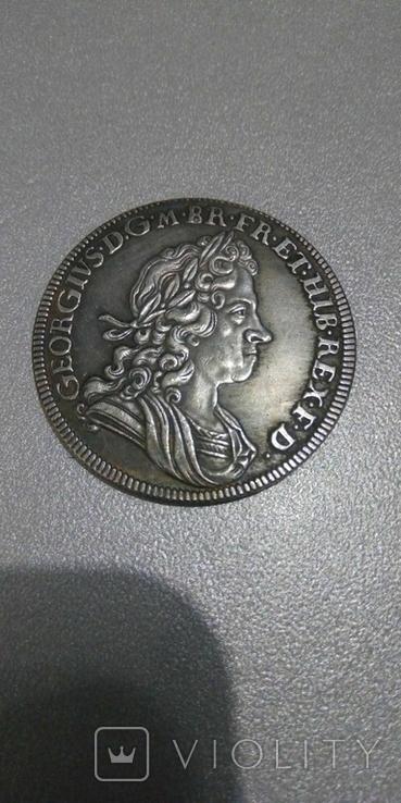Шиллинг 1720 года Англия Георг 1 копия, фото №2