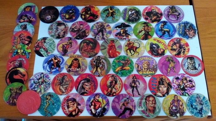 Фишки кэпсы Mortal Kombat. Комплект. +1 битка (бонус)., фото №2