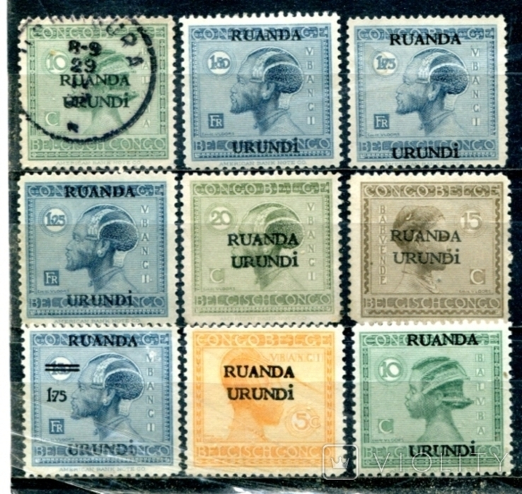 Бельгія колоніі. надруки