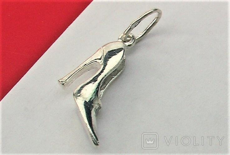 Подвеска кулон серебро 925 проба 2,12 грамма, фото №3
