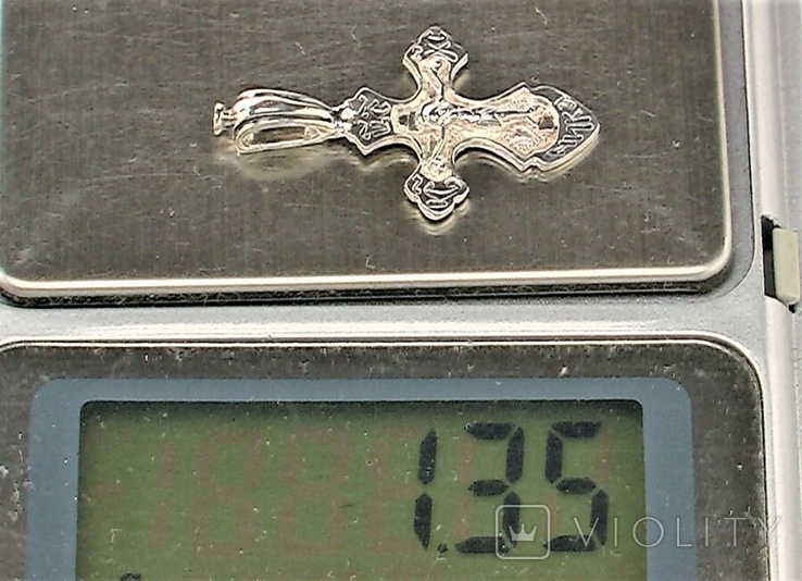 Крестик серебро 925 проба 1,35 грамма, фото №7
