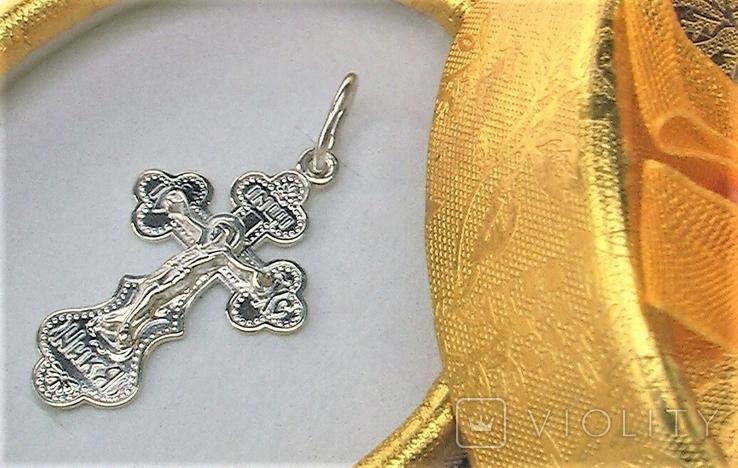 Крестик серебро 925 проба 1,57 грамма, фото №2