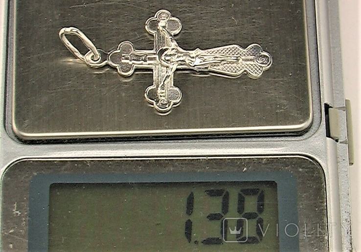 Крестик серебро 925 проба 1,38 грамма, фото №7