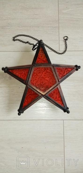 Новогодний светильник звезда на свечу, фото №2