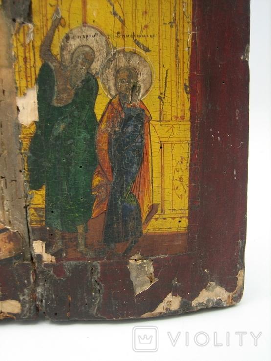 Икона Покров дерево 32 х 41 см на реставрацию, фото №5