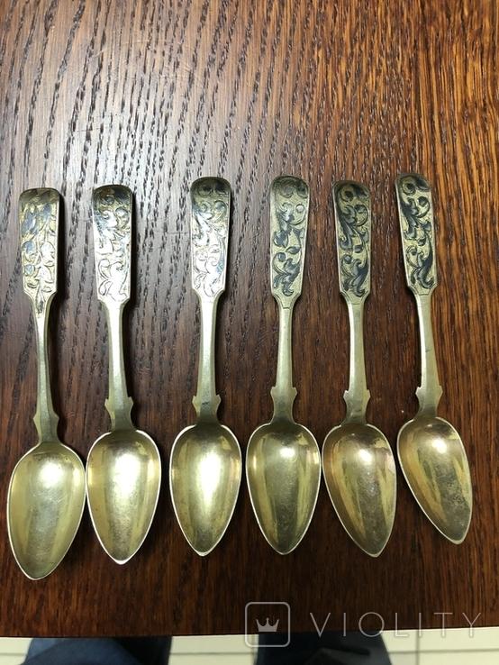 Серебряные ложки чернь ., фото №4