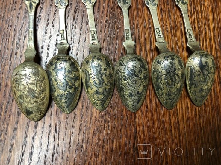 Серебряные ложки чернь ., фото №5