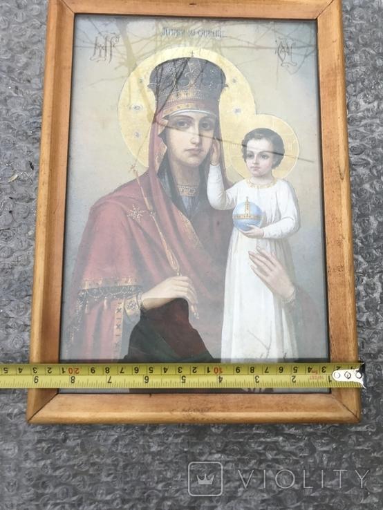 Икона Богородица 33х23 см, фото №4
