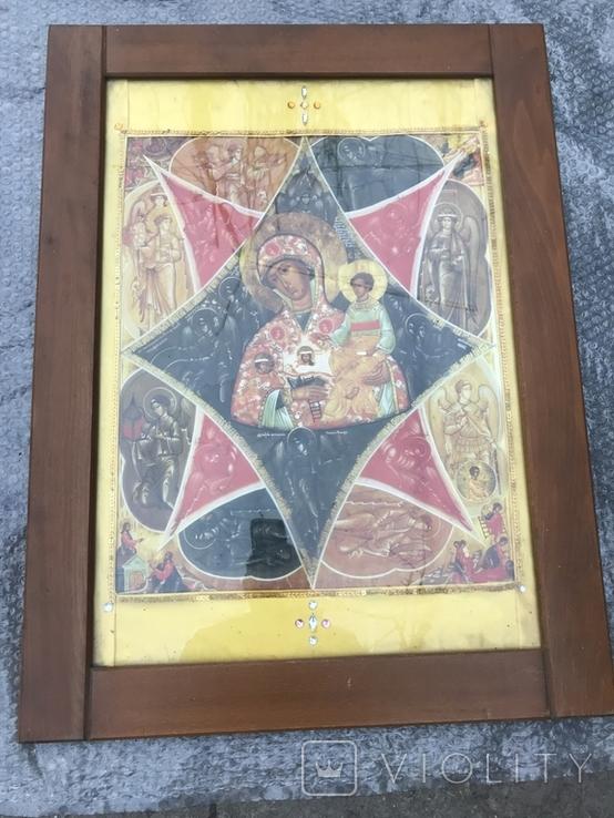 Икона Богородица 80х60 см, фото №2