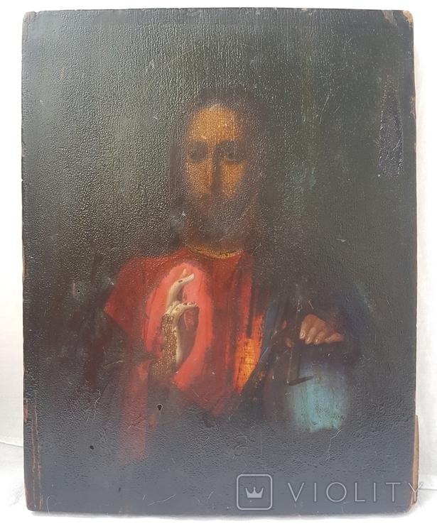 Иисус Вседержитель. 19 в. 17 х 22 см, фото №3