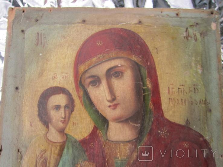Икона Образ Пр. Богородицы. Праворучицы 31 Х 23.5, фото №3