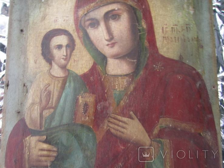 Икона Образ Пр. Богородицы. Праворучицы 31 Х 23.5, фото №4