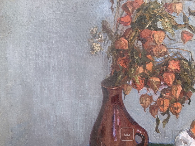 Натюрморт, 97х93см, авт. Куликов, 1969г, фото №5