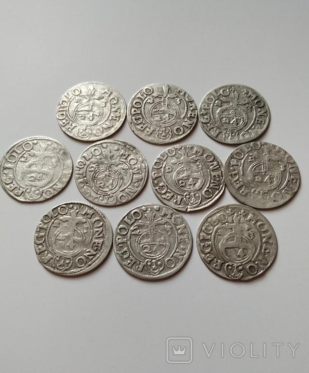 Полтораки Сигизмунда ІІІ Вазы 1623 г (10 шт), фото №2