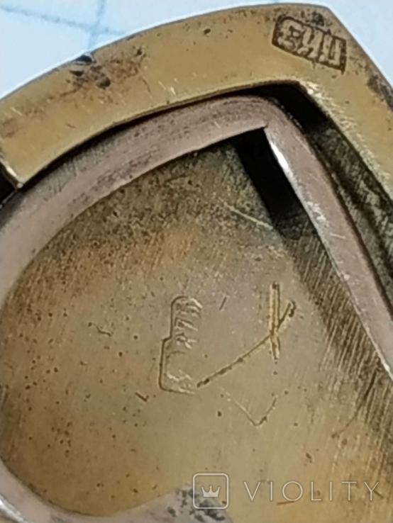 Красивая подвеска,сердечко, серебро, СССР., фото №7