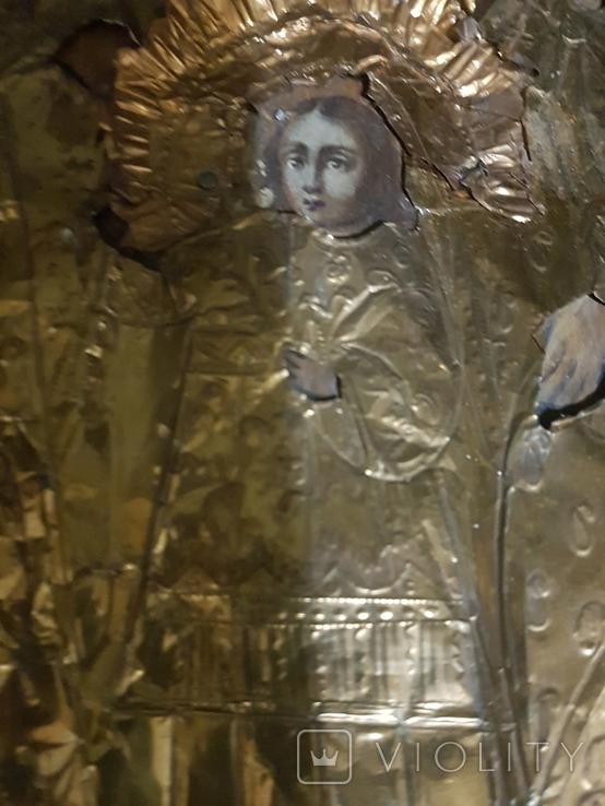 Икона святых 19 век , святое писание 1900 года , правило причящений ., фото №5