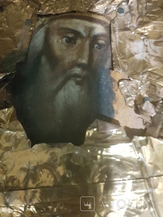 Икона святых 19 век , святое писание 1900 года , правило причящений ., фото №7