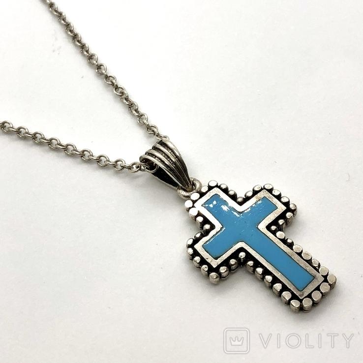 Крест на цепочке серебро, фото №3