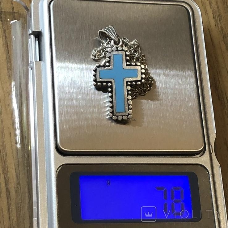 Крест на цепочке серебро, фото №8