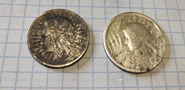 1 злотий 1924 Ядвіга + 2 злотих, фото №6