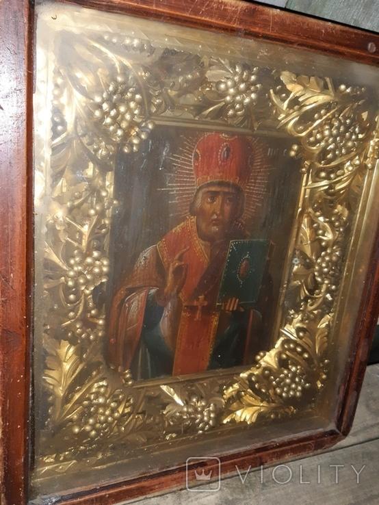 Икона 18-19 век Николай Чудотворец, фото №3