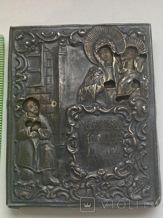 Миниатюрная икона. Серебро. 84 проба., фото №2