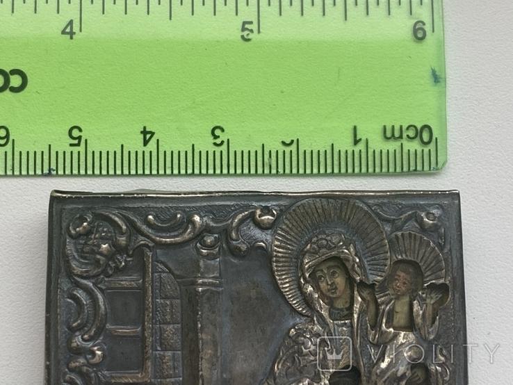 Миниатюрная икона. Серебро. 84 проба., фото №13