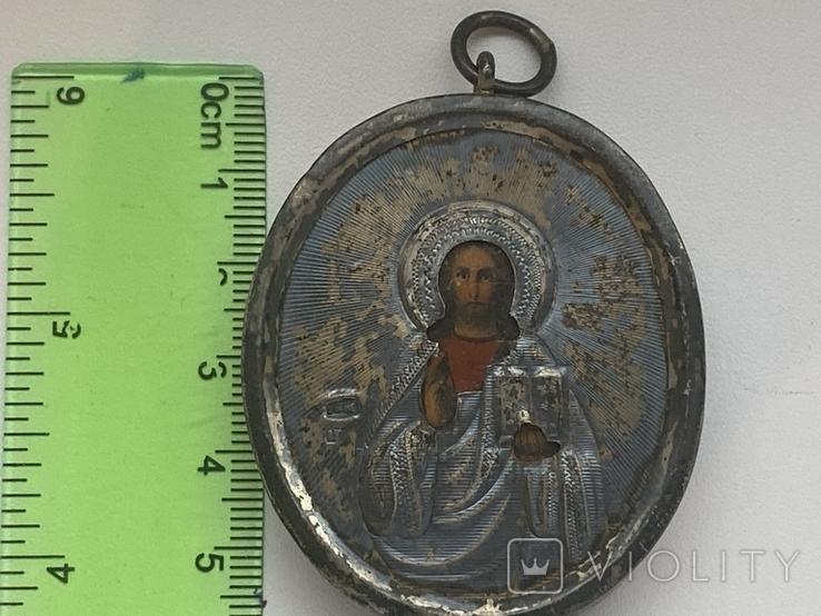Икона миниатюрная. Серебро, фото №2
