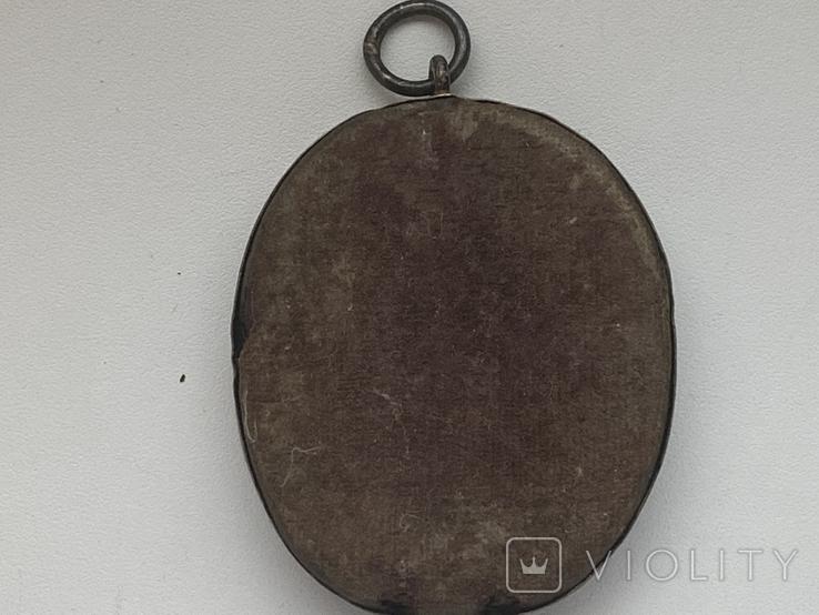 Икона миниатюрная. Серебро, фото №8