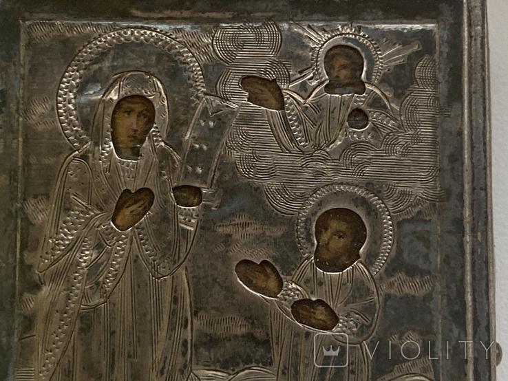 Миниатюрная икона. Серебро, фото №3
