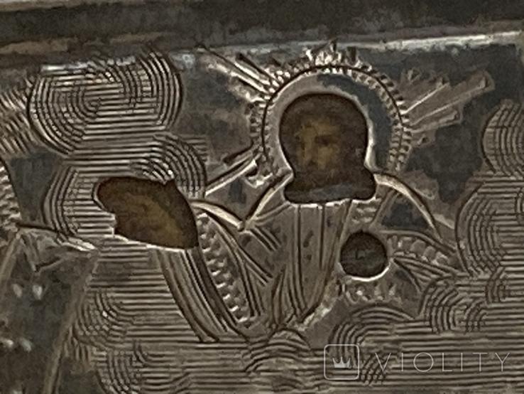 Миниатюрная икона. Серебро, фото №6