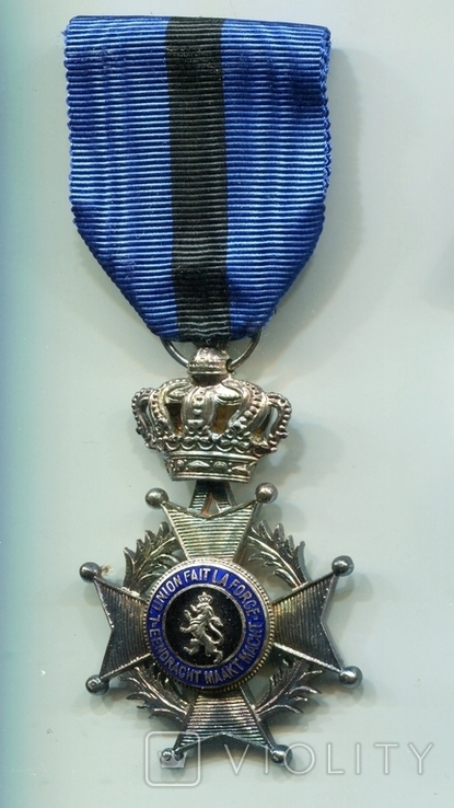 Бельгия. Орден Леопольда II. Серебро 950, фото №3
