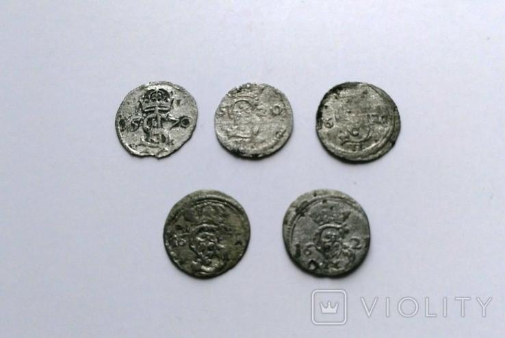 Двуденарии 1570, 1620, 1621 годы, фото №2