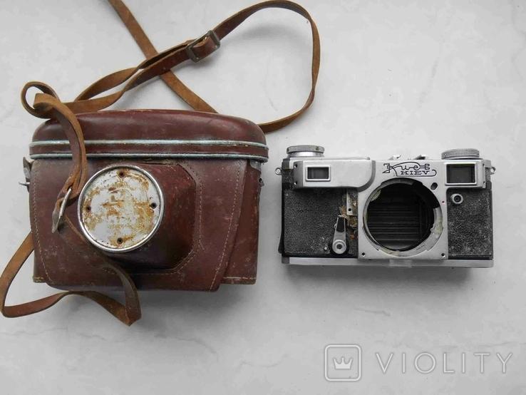 Фотоаппарат Киев 4А с футяром, корпус на запчасти, фото №2