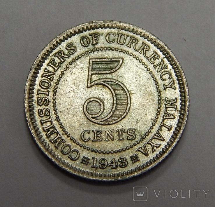 5 центов, 1943 г Британская Малая, фото №2