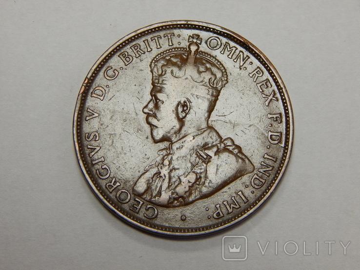 1 пенни, 1919 г Австралия, фото №3