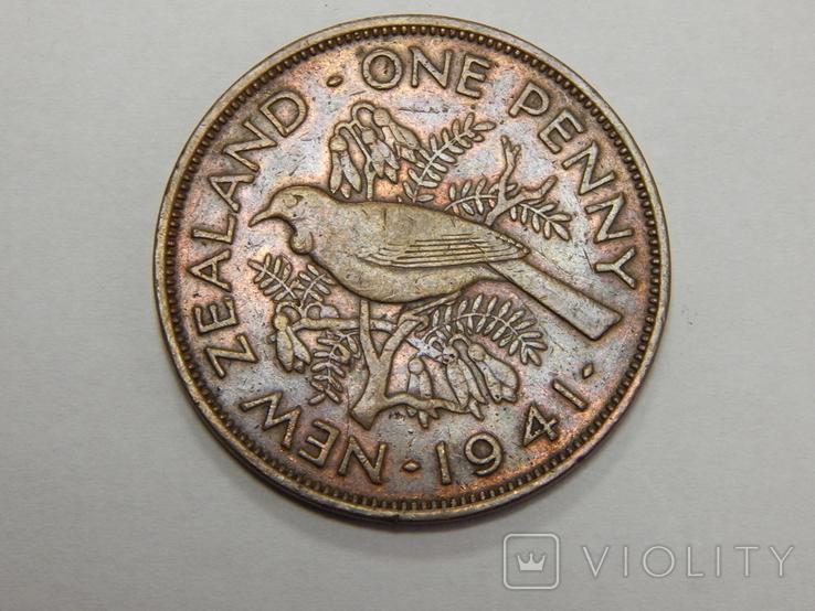 1 пенни, 1941 г Новая Зеландия, фото №2