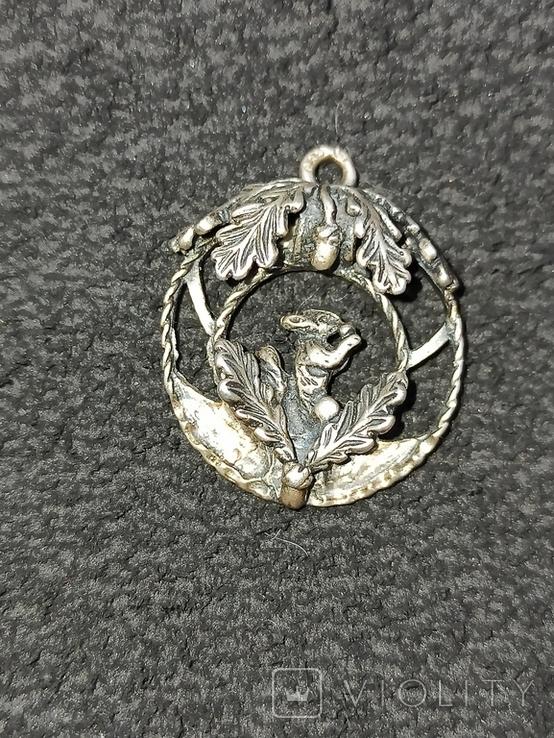 Кулон подвеска белка серебро 835 винтаж, фото №2