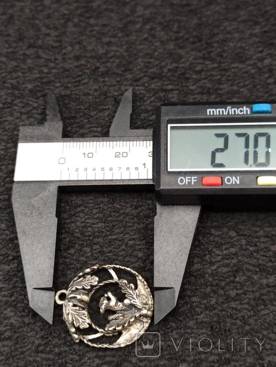 Кулон подвеска белка серебро 835 винтаж, фото №8