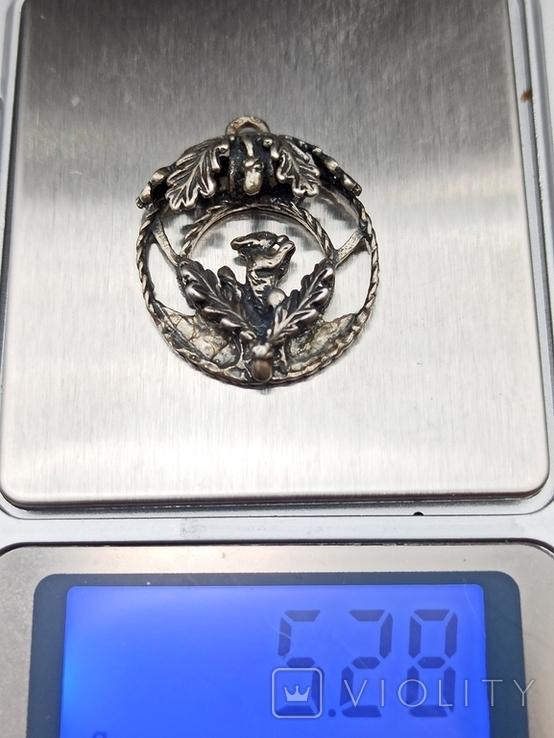 Кулон подвеска белка серебро 835 винтаж, фото №9