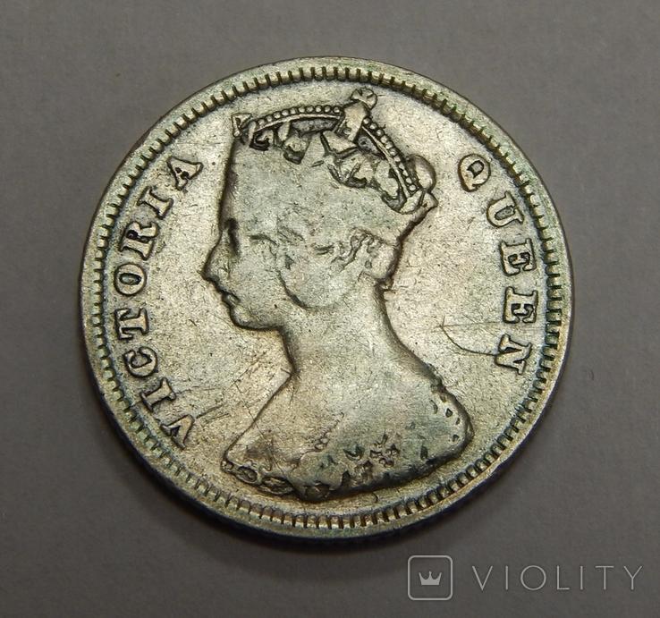 10 центов, 1895 г Гон-Конг, фото №3