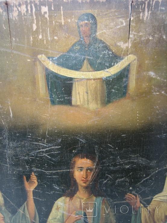 Икона Покров большая 32 х 43 см, фото №3