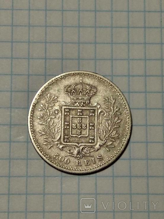 Португалия, 500 реалов, 1899 год, Карлуш I, фото №5