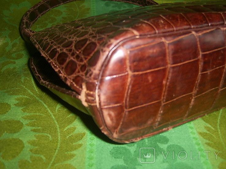 Сумочка винтажная коллекционная Lopez из кожи аллигатора Аргентина, фото №9