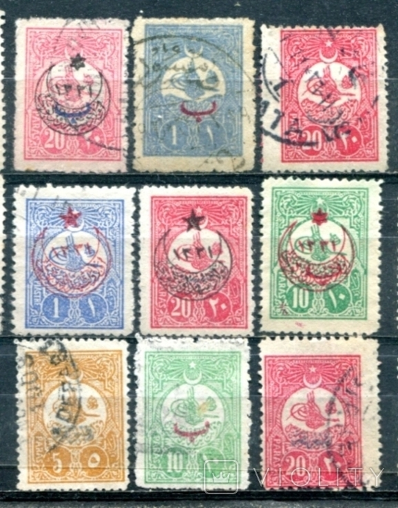 Турція. надруки на стандартах 1908