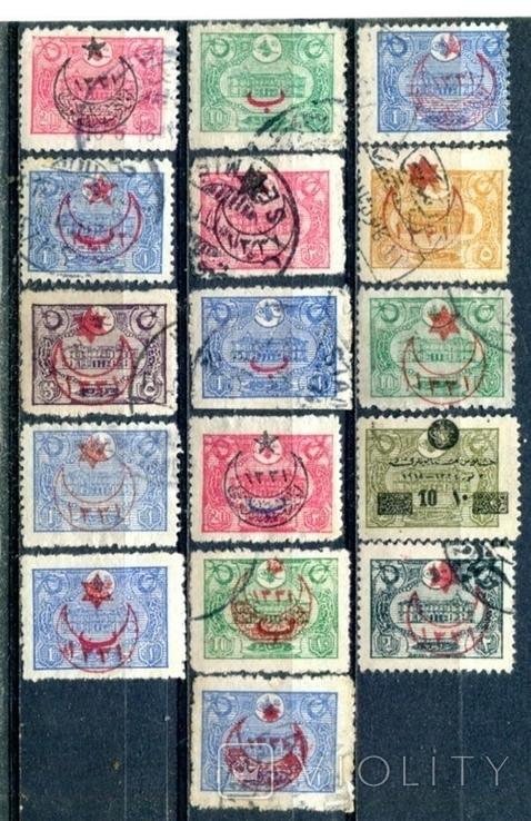 Турція. надруки на стандартах 1913