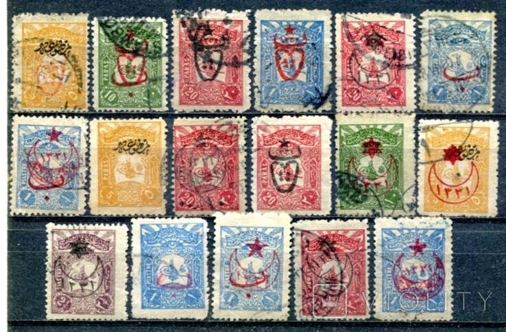 Турція надруки на стандатах 1905