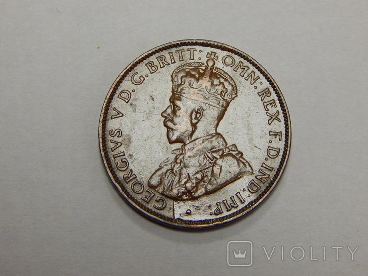 1/2 пенни, 1936 г Австралия, фото №3