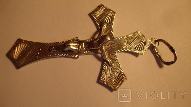 Серебро 925 крест, фото №2