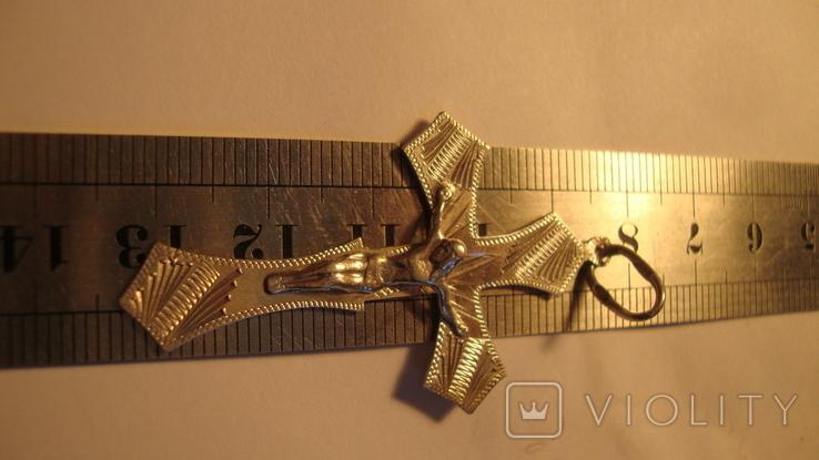 Серебро 925 крест, фото №4